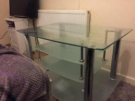 Tv cabinet - glass excellent condition