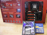 Intel 4930K, Asus Rampage IV Extreme and Xigmatek Thors Hammer cooler for sale