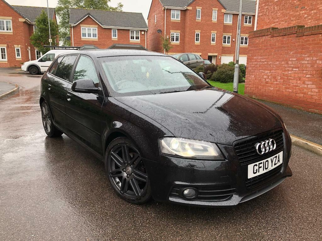 2010 audi a3 2 0 tdi s line black edition 5 door sportback full leathers bose fsh long mot must. Black Bedroom Furniture Sets. Home Design Ideas