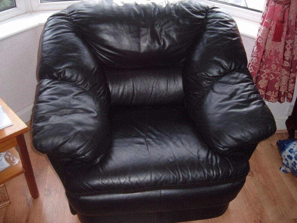 Black Leather Chair FREE FREE