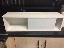 Ikea osthamra kitchen wall cupboard white glass doors