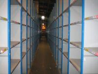 40 bays dexion impex industrial shelving 2.4 meters high ( storage , pallet racking )