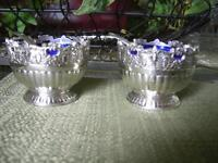 HEESON HASCALL CO. RAIMOND  SILVER PLATE SALT CELLARS - TWO