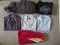 Gilet, sweatshirt, 3 shirts and swim shorts for boys - Age 7