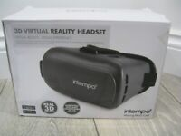 Intempo 3D Virtual Reality Headset Compatible With Most Smartphones - New In Box