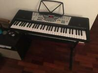 Good Condition 61-Key Piano Keyboard with Stand