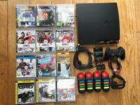 PlayStation 3 Slim 160GB Console, Family Games + 2 Controllers