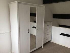Ikea 3 door wardrobe with mirror