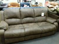 Excellent brown suede sofa