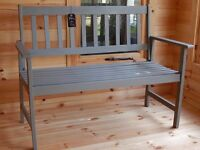 Solid Wood Lighweight Garden Bench - fully restored , preserver and 3 coats of ronseal paint