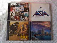 4 CD's - U2, ASIA, BLUR AND THE LIGHTNING SEEDS