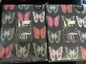 Black butterfly curtains
