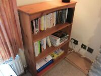 Pine Bookcase 3 shelves 100cm high 75cm wide. Good condition