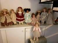 Collectable Porcelain Doll Bundle.