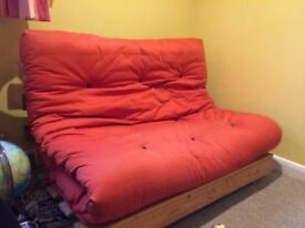 Stylish Red Futon *******reduced half price for quick sale*****
