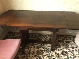 Walnut Wooden Table with 3 chairs