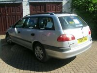 Toyota Avensis Estate 2001 , petrol, manual gearbox, clean, honest, reliable car