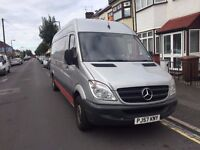 2007 MERCEDES BENZ SPRINTER 2.2 DIESEL MANUAL 5 SEATER CREW SILVER 12M MOT QUICK SALE!!!