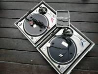 Technics 1200 mk2 & mk5 with needles