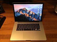 "Macbook Pro Retina 15"" Mid-2015 Top Spec: 2.5GHz i7, 16GB RAM, 500GB storage, Force-touch, LIKE NEW"