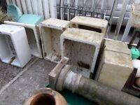 Fantastic Vintage Ceramic White Belfast Sink Pond Planter Garden - Delivery