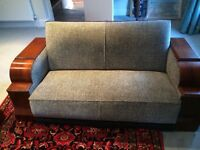 Genuine 1930's art deco 3 piece lounge suite - reduced to £650 for quick sale