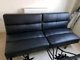 Black Sofa Bed faux Leather