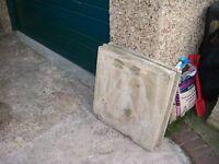 paving slabs buff 60cm x 60 cm