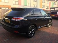 Lexus RX450h F-Sport 2012 Panoramic Roof Red Leather Interior Head-up Display