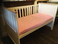 Cream John Lewis Cot Bed in Good Condition