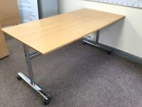 office desk flip top table like new solid top with solid stainless steel frame £149 or best offer