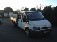 Ford transit 115t350 crew cab dropside with tail lift 124000 miles