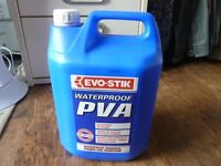 Evo-Stik/Evo-Bond Waterproof PVA, Adhesive, Primer & Admitxture - 5L