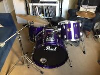 Pearl Export 5-Piece Drum Kit + Cymbals + Mapex Drum Stool