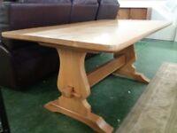 light oak trestle/dining table
