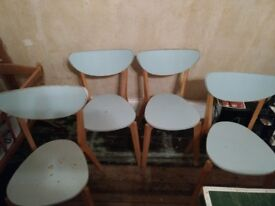 Four Ikea Nordmyra wooden chairs