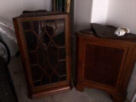 Old corner cabinet