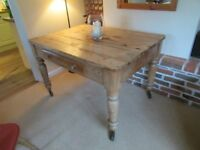 Antique pine kitchen/dining table. Beautiful condition, waxed and very clean.
