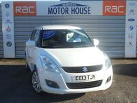 Suzuki Swift SZ4 (£30.00 ROAD TAX) FREE MOT'S AS LONG AS YOU OWN THE CAR!!! (white) 2013