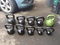 Olympic weights and kettle bells