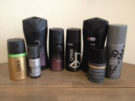 Assorted Men's Toiletries – Lynx, FCUK, Champneys, 'Homme' by David Beckham