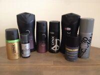 Assorted Men's Toiletries – Lynx, FCUK, Champneys, 'Homme' by David Beckham