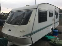 Elddis Cyclone Vogue 1998, 5 Berth Caravan with 2 Awnings & Accessories
