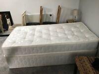 Single medium/firm divan bed - hardly used!