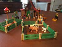 Vintage Rare 1992 Farm Playmobil with extension packs