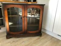 Wooden sideboard/ display cabinet with glazed doors (93cm wide, 85cm Hight, 26cm depth)