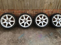 Genuine Honda Type R Alloy Wheels. WITH TYRES Fits All Hondas. Civic Accord FRV Jazz CRV Odyssey