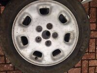 3 car Tyres with Alloys