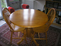 Julian Bowen Dundee drop leaf Table and Two Windsor chairs