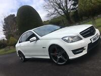 White Mercedes c220 Amg Sport - finance available